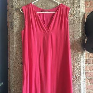 Comptoir des Cotonniers red sleeveless silk dress